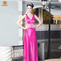 China 5253# Sexy backless rose designer pink prom dress wholesale