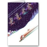 Buy cheap Christmas Cards Snow Boarding Santa Card from wholesalers