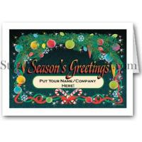 Buy cheap Christmas Cards Holiday Border Custom Logo from wholesalers