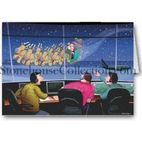 China Christmas Cards Airport Control Tower Flyby Holiday Card wholesale