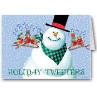 China Christmas Cards Holiday Tweeters Snowman Card wholesale