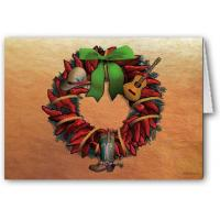 Buy cheap Christmas Cards Chili Pepper Wreath from wholesalers