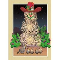 Buy cheap Christmas Cards Desert Tumbleweed Snowman Card from wholesalers