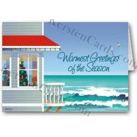 Buy cheap Christmas Cards Beach House Holiday Wishes Christmas Card from wholesalers