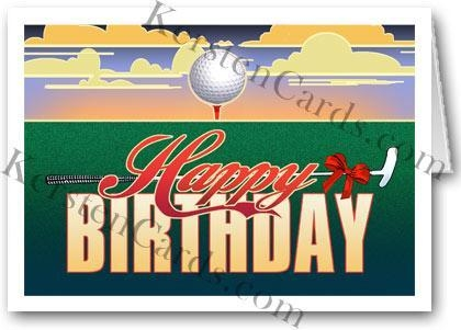 Quality Greeting Cards Golf Birthday Card for sale