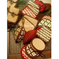 China bamboo strips coin purse. wholesale