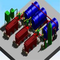 Buy cheap 30T waste tyre pyrolysis plant from wholesalers