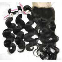 Buy cheap The Best Quality Virgin Peruvian Body Wave Hair Bundles with Human Hair Weave with Closure #97048 from wholesalers