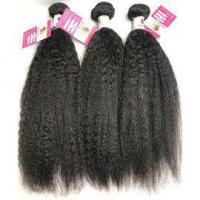 Buy cheap 100% Virgin Peruvian Human Hair Bundles Kinky Straight Natural Black Hair Extensions #96420 from wholesalers