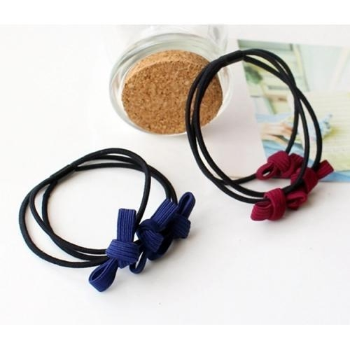 Quality Simple Bow Hair Ring Small Bow Tie Hair Rope for sale