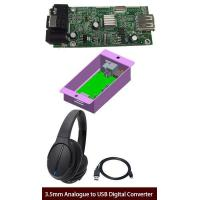 Analog To Digital Audio Converter Box Turns 3.5mm Analogue Audio Into USB Digital Signals
