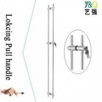 Buy cheap long glass door pull handle with lock from wholesalers