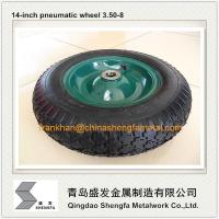 China 3.50-8 pneumatic wheel with plastci rim on sale