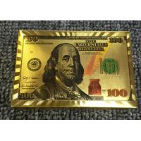Dollar Design 24K Gold Plastic Playing Cards
