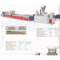 equipment Wood and Plastic composite wide door extrusion line