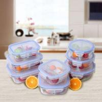 180 Ml Rectangle Glass Food Storage Containers With PP Food Standard Lid