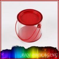 round PVC tin can with handle