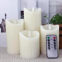 China Scented Luminara led candles with auto timer Led Wax Pillar Candle With Moving Woving Wick on sale