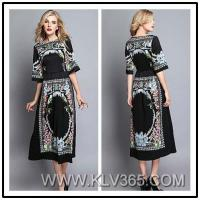 Spring Summer Designer Women Fashion Floral Long Evening Dress China Wholesale