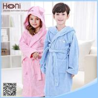 High Quality 100 Cotton Kids Hooded Bathrobe