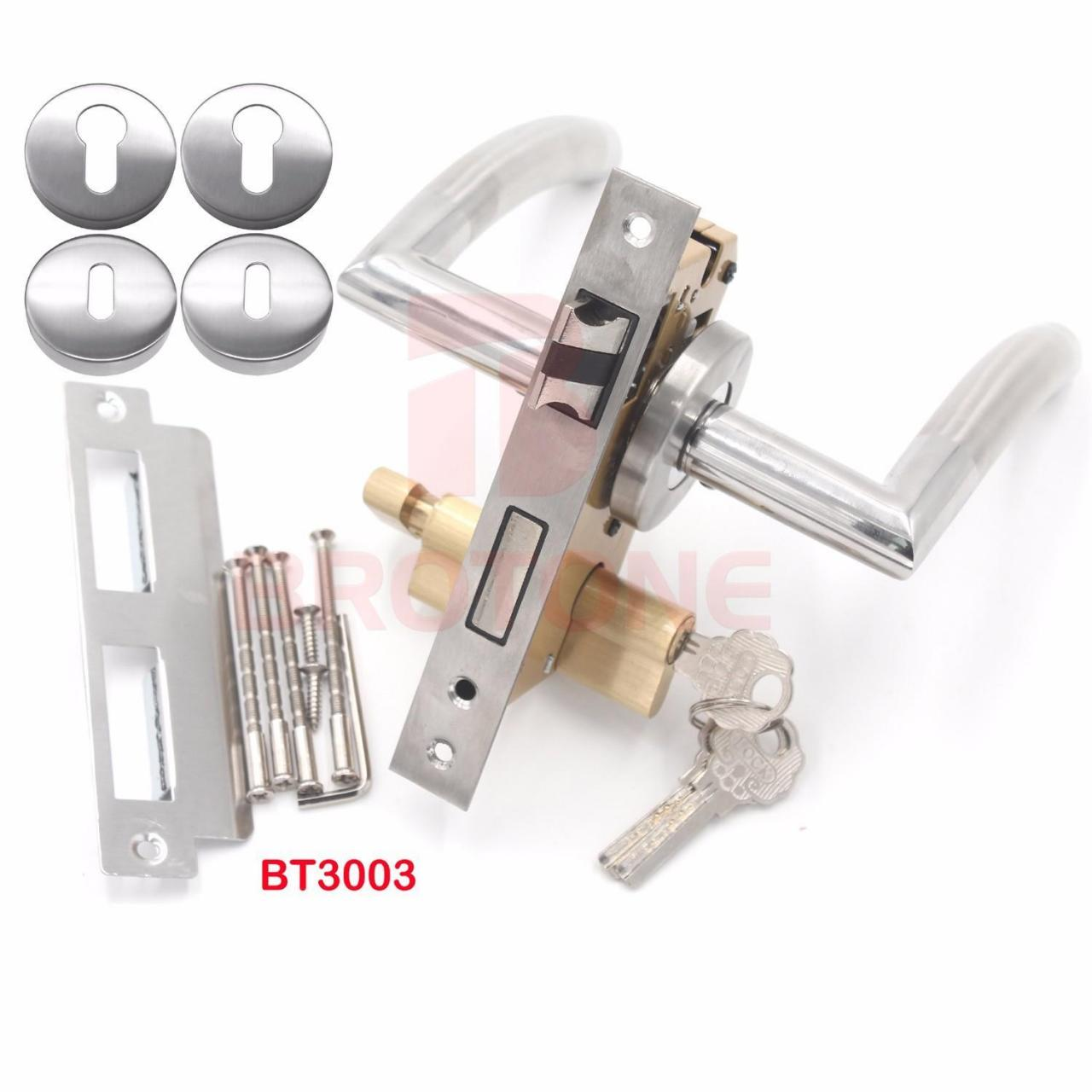 China Double Sided Exterior Door Hardware Square Rose Interior Lever Door Handles wholesale