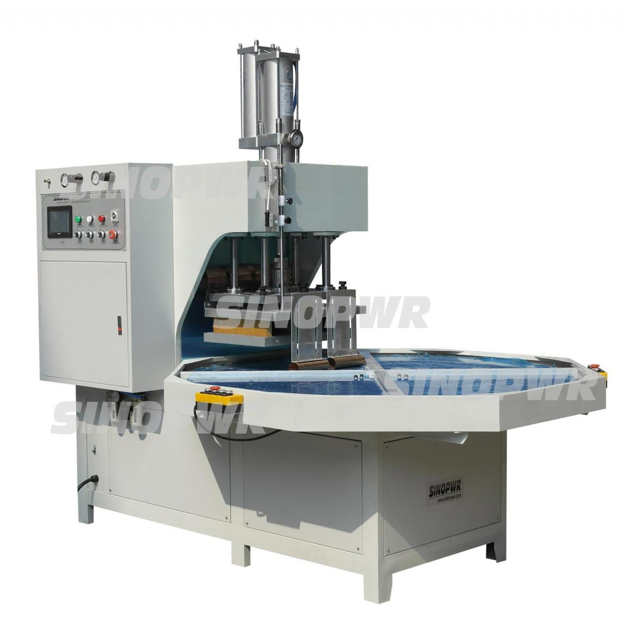 Buy cheap Turntable pvc soft crease box HF welding making machine from wholesalers