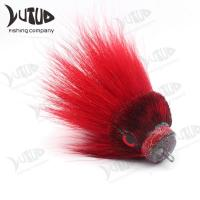 China Newest Deer Hair Big Mouse Bucktail Fly Tying Jigged Resin Head Fishing Jig Bucktail Flies wholesale