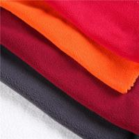 Buy cheap POLAR FLEECE FABRIC China factory dty/fdy and knitted brushed red polar fleece from wholesalers