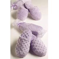 China Bed & Bath Sonoma Lavender -Lavender Dot Heated Slippers on sale