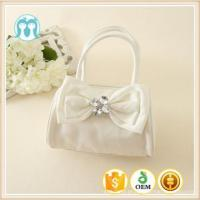 China Best price Cute Little Girls pink and beige bags Colorful Bowknot PU good quality Kids Handbags wholesale