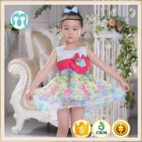 China new customized Girl Dress 2-16 Years Baby Girls Pattens Summer Style Floral Print Cotton wholesale
