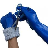 China NMSAFETY water proof nitrile coated long cut resistant gloves wholesale