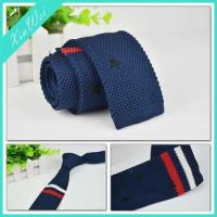 Buy cheap Men's Fashion Narrow Slim Skinny Woven Knitted Necktie from wholesalers