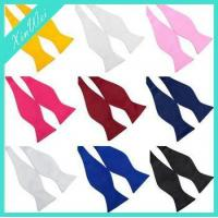 Buy cheap Custom Colourful Pure Colour Self Bow Tie from wholesalers