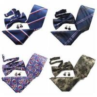 Buy cheap Fashion Necktie Polyester Bowtie Handkerchief Set from wholesalers