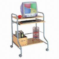China Computer Desk, Made of Medium Fiber Board and Steel Frame, with Powder Coating on sale